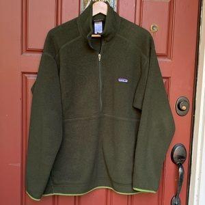 Men's Patagonia Green Front Zip Chinchilla Size XL